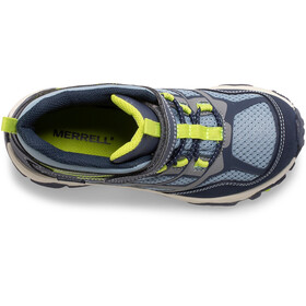 Merrell Moab FST Mid A/C Waterproof Shoes Kids navy/china blue